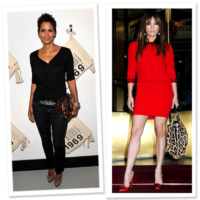 Halle Berry and Jennifer Lopez with Leopard Louis Vuitton and Jimmy