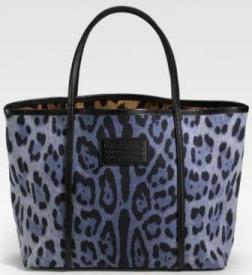 Miss Escape Leopard Print Denim Tote от Dolce and Gabbana.