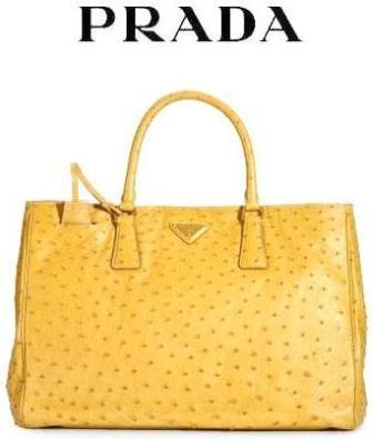 Вот странное сочетание выбрали дизайнеры Prada для сумки Ostrich Leather...